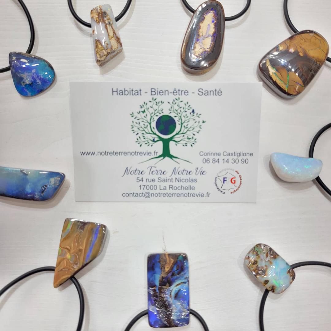 Opale boulder d'Australie